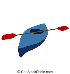 Kayak - Boat for water sports and tourism events The...