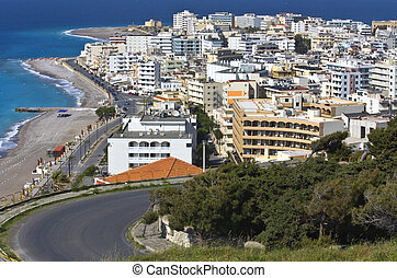 Summer resort of Rhodes city at Greece