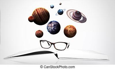 Solar system and space objects. Elements of this image...