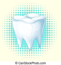 Dental theme with tooth  illustration
