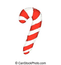 Hand drawn christmas candy cane
