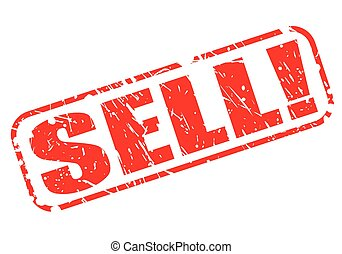 SELL red stamp text on white