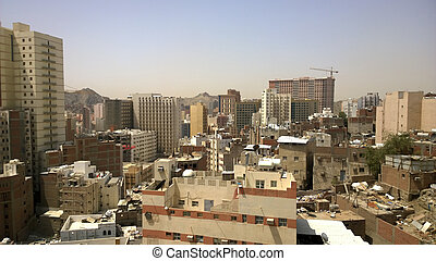 Mecca - Picture of the city of Mecca Which show high...