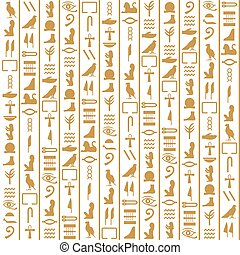 Ancient Egyptian vector seamless vertical pattern with...