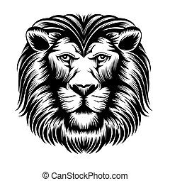 Lion head vector - Lion head Animal mammal, wild power leo,...