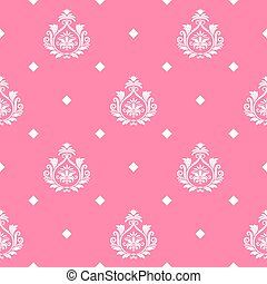 Vector princess seamless background. Pattern endless,...
