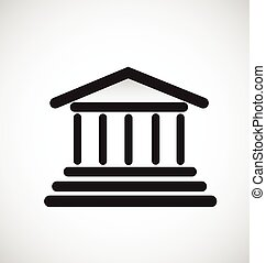 Greek columns temple logo - Architecture Greek columns...