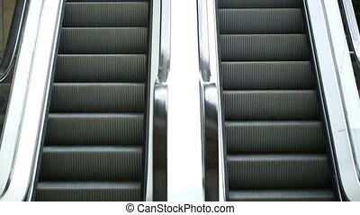Escalator On a Supermarket