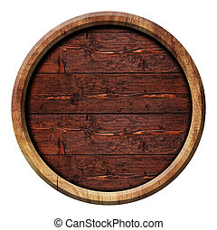 Circle wooden buttons, illustration