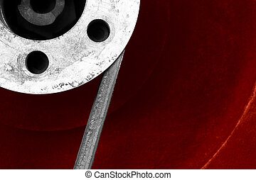 vintage machinery background or close-up of wheels mechanism