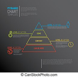 Vector Infographic Pyramid chart diagram template with...
