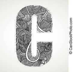 "Letter ""C"" from doodle alphabet"