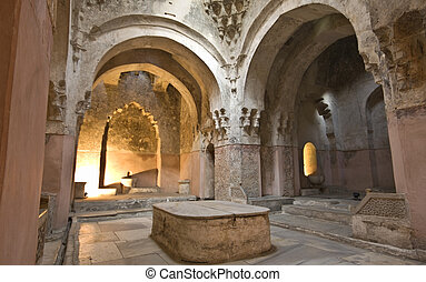 Bey hamam bath historic building at Thessaloniki city in...