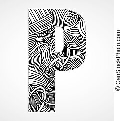 """Letter """"P"""" from doodle alphabet"""