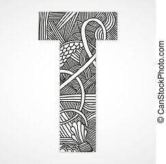 """Letter """"T"""" from doodle alphabet"""