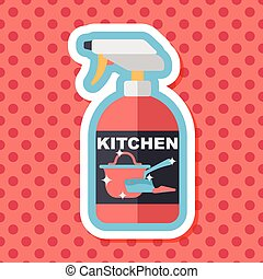 kitchenware bottle soap flat icon with long shadow,eps10