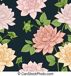 Vector floral pattern - Beautiful vector image with nice...