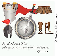 The Armor of God Christianity Jesus Christ Battle Vector...