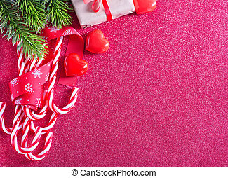 Christmas background, Christmas decoration and candles on a...
