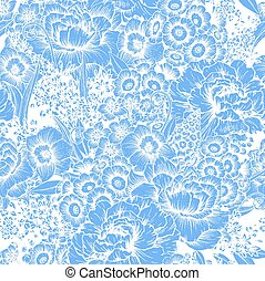 Hand drawn floral pattern - Beautiful vector image with nice...