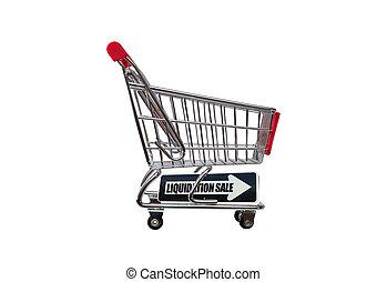 liquidação, venda, Seta, shopping, car,