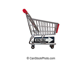 Ultra Sale Shopping Cart - Ultra Sale Arrow Shopping cart...
