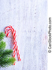 Christmas background, Christmas decoration on a candy