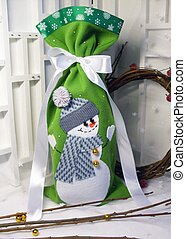 Bag of gifts for Christmas and New Year