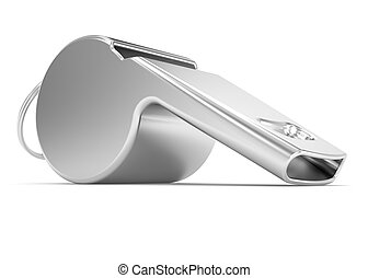 Whistle on a white background
