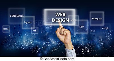 Web Design Concept - Business concept image of a businessman...
