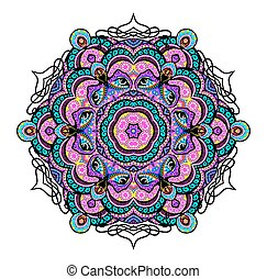 Ornament beautiful background with mandala. Perfect cards for your design. Vector illustration, EPS10