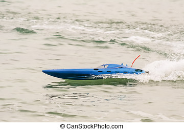 Radio controlled model boat - Modern electric radio...
