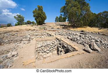 Ruines in Bethsaida - Ruines an excavations of houses in the...