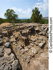 Ruines in Bethsaida - Ruines of houses in the biblical...
