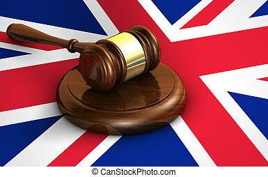 Uk Law And British Legal System Concept - Uk law, justice...