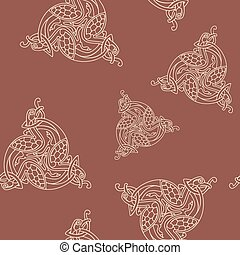 Seamless pattern with Celtic art - Seamless pattern with...