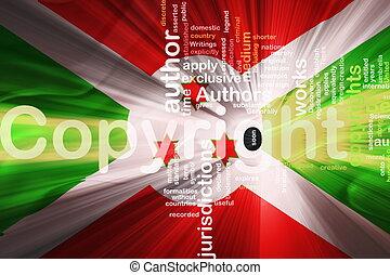 Flag of Burundi wavy copyright law - Flag of Burundi,...
