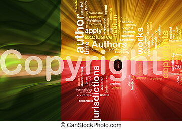 Flag of Benin wavy copyright law