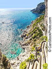 Capri island in Italy - Patch on a Capri island in a...