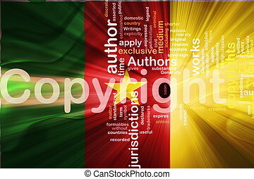 Flag of Cameroon wavy copyright law