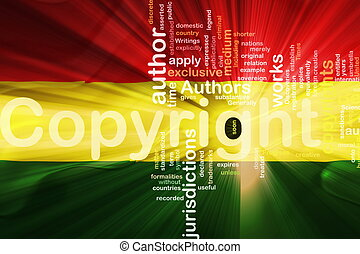 Flag of Bolivia wavy copyright law