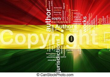 Flag of Bolivia wavy copyright law - Flag of Bolivia,...
