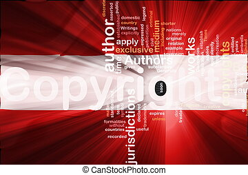 Flag of Austria wavy copyright law