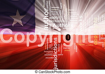 Chile flag wavy copyright law