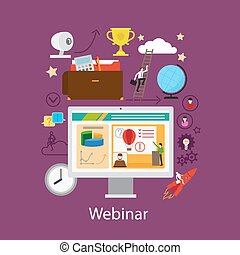 Webinar and online learning concept