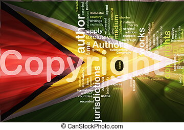 Flag of Guyana wavy copyright law - Flag of Guyana, national...