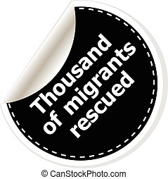 thousand of migrants rescued vector illustration of...
