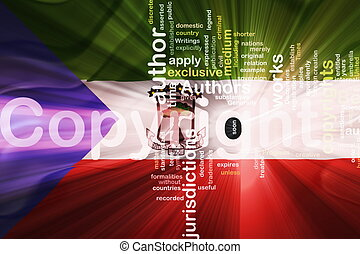 Flag of Equatorial Guinea wavy copyright law - Flag of...