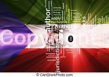Flag of Equatorial Guinea wavy copyright law - Flag of...