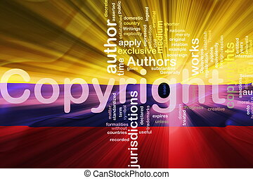 Flag of Colombia wavy copyright law - Flag of Colombia,...